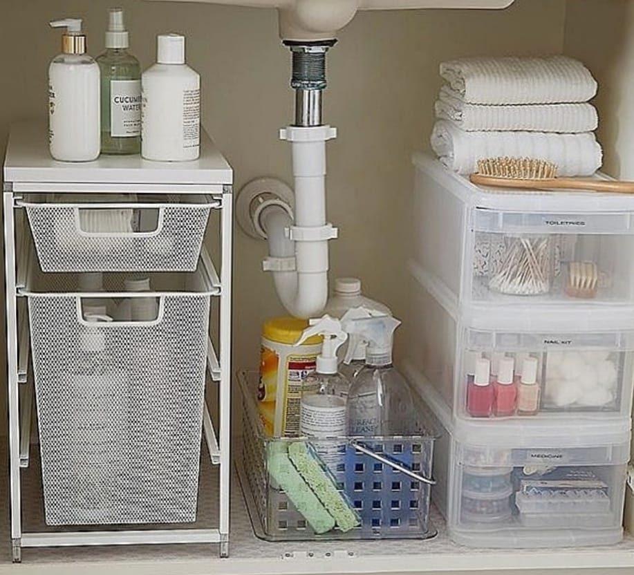 Sotto lavello super organizzato: con pochi accessori si può